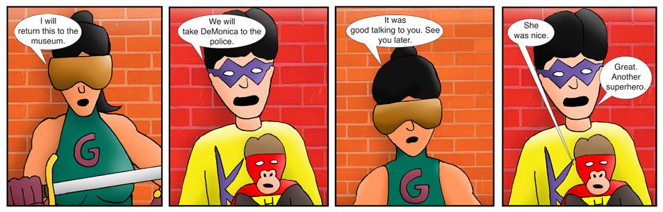 Kid Spider Adventures Gorilla Girl Comic 9