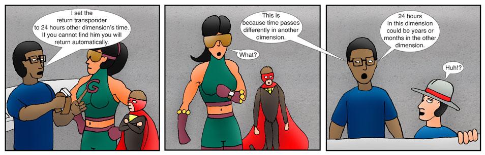 Kid Spider Adventures Time Jump Comic 7